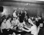 Students in the Pizza Pit, 1958