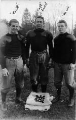 Three M.A.C. football players, 1908