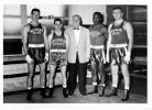Coach Brotzmann and four boxers, date unknown
