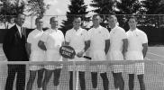 MSU Tennis team and the coach, date unknown