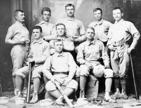 The MAC baseball team, circa 1886 title=The MAC baseball team, circa 1886