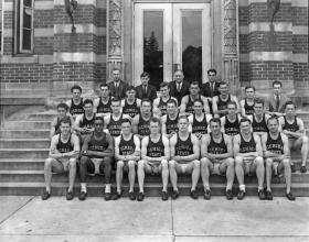 Varsity Track Team Photo, 1937  title=Varsity Track Team Photo, 1937