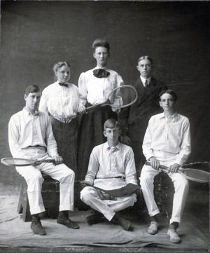 Co-ed tennis team, date unknown