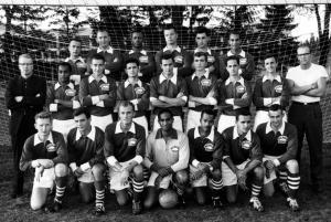 The men's soccer team, 1961